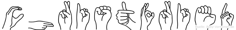 Christfried in Fingersprache für Gehörlose