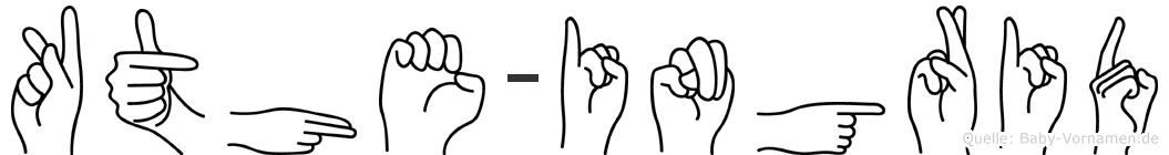 Käthe-Ingrid im Fingeralphabet der Deutschen Gebärdensprache