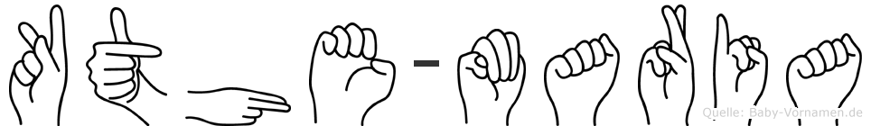 Käthe-Maria im Fingeralphabet der Deutschen Gebärdensprache