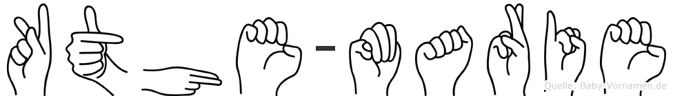Käthe-Marie im Fingeralphabet der Deutschen Gebärdensprache