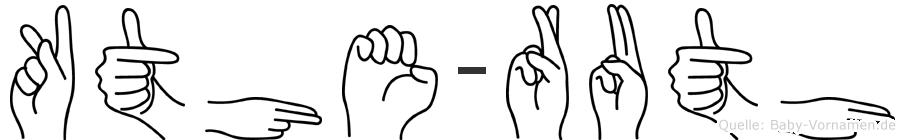 Käthe-Ruth im Fingeralphabet der Deutschen Gebärdensprache