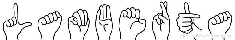 Lamberta in Fingersprache für Gehörlose