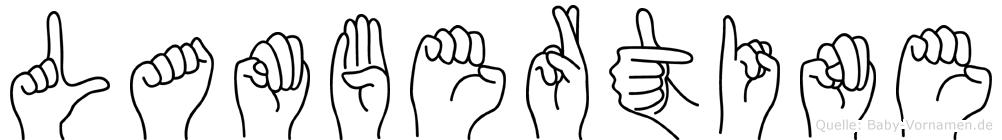 Lambertine in Fingersprache für Gehörlose