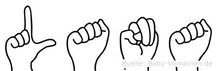 Lana in Fingersprache für Gehörlose
