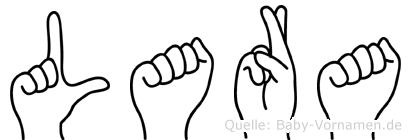 Lara in Fingersprache für Gehörlose