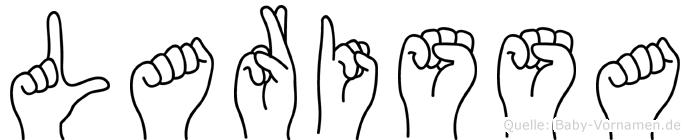 Larissa in Fingersprache für Gehörlose