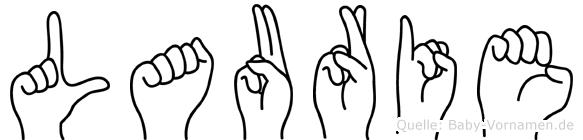 Laurie im Fingeralphabet der Deutschen Gebärdensprache