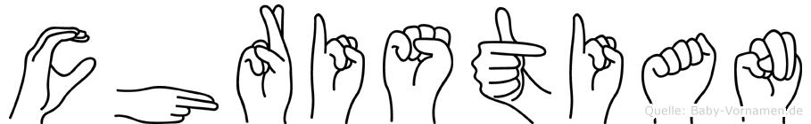 Christian in Fingersprache für Gehörlose