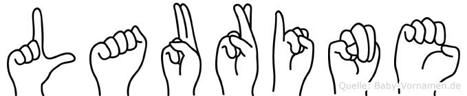 Laurine im Fingeralphabet der Deutschen Gebärdensprache