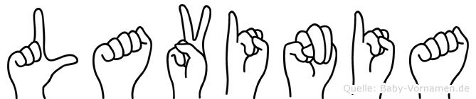 Lavinia in Fingersprache für Gehörlose