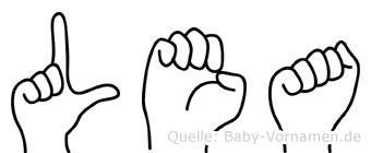 Lea in Fingersprache für Gehörlose