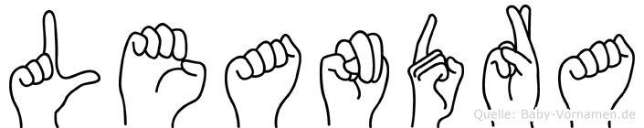 Leandra im Fingeralphabet der Deutschen Gebärdensprache