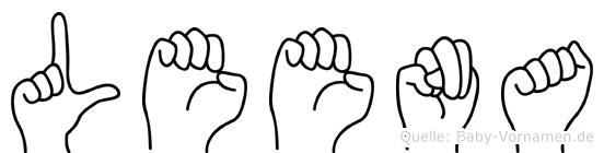 Leena im Fingeralphabet der Deutschen Gebärdensprache