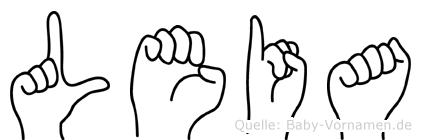 Leia im Fingeralphabet der Deutschen Gebärdensprache