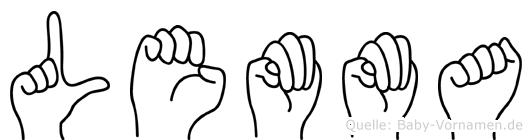 Lemma in Fingersprache für Gehörlose