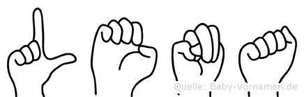 Lena in Fingersprache für Gehörlose