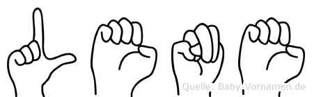 Lene im Fingeralphabet der Deutschen Gebärdensprache