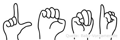 Leni in Fingersprache für Gehörlose