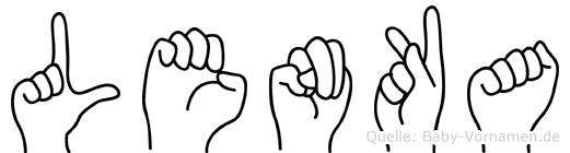 Lenka im Fingeralphabet der Deutschen Gebärdensprache