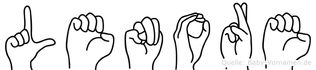 Lenore im Fingeralphabet der Deutschen Gebärdensprache