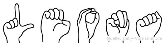 Leona in Fingersprache für Gehörlose