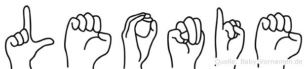 Leonie in Fingersprache für Gehörlose