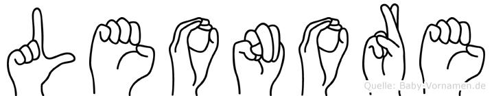 Leonore in Fingersprache für Gehörlose