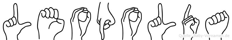 Leopolda im Fingeralphabet der Deutschen Gebärdensprache