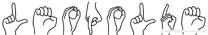 Leopolde in Fingersprache für Gehörlose