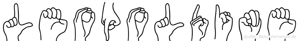 Leopoldine im Fingeralphabet der Deutschen Gebärdensprache