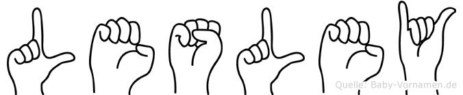 Lesley in Fingersprache für Gehörlose