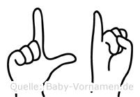 Li in Fingersprache für Gehörlose