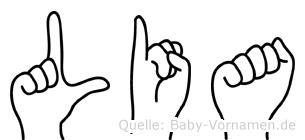 Lia im Fingeralphabet der Deutschen Gebärdensprache