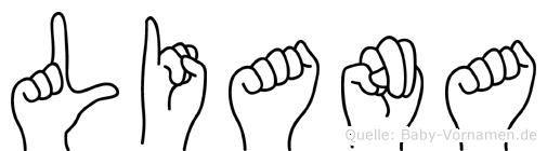 Liana in Fingersprache für Gehörlose