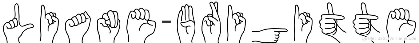 Liane-Brigitte im Fingeralphabet der Deutschen Gebärdensprache