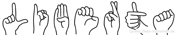 Liberta in Fingersprache für Gehörlose