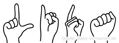 Lida in Fingersprache für Gehörlose
