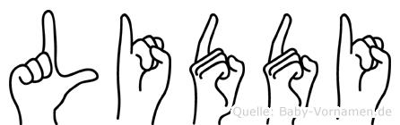 Liddi in Fingersprache für Gehörlose