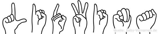 Lidwina im Fingeralphabet der Deutschen Gebärdensprache
