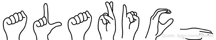 Alarich im Fingeralphabet der Deutschen Gebärdensprache