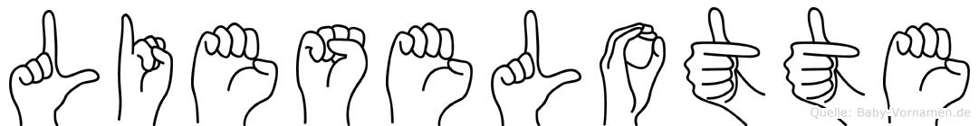 Lieselotte im Fingeralphabet der Deutschen Gebärdensprache