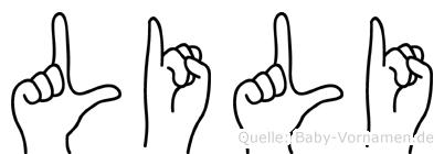 Lili in Fingersprache für Gehörlose
