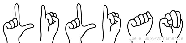 Lilian in Fingersprache für Gehörlose