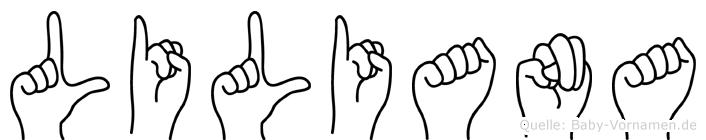 Liliana in Fingersprache für Gehörlose