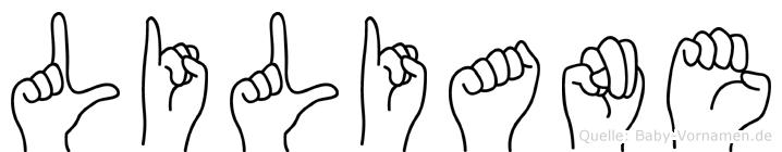 Liliane im Fingeralphabet der Deutschen Gebärdensprache