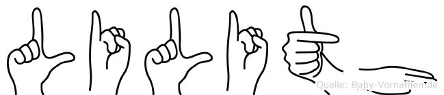 Lilith in Fingersprache für Gehörlose