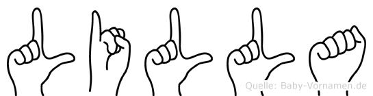 Lilla im Fingeralphabet der Deutschen Gebärdensprache