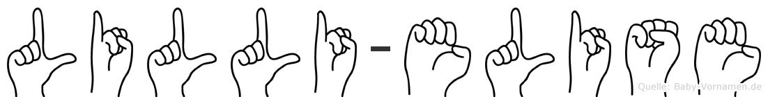 Lilli-Elise im Fingeralphabet der Deutschen Gebärdensprache