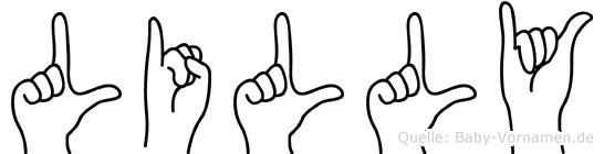 Lilly in Fingersprache für Gehörlose