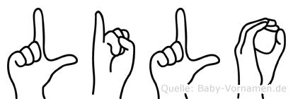 Lilo im Fingeralphabet der Deutschen Gebärdensprache